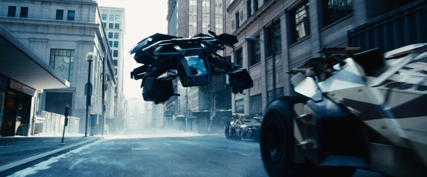 """The Bat as seen in Warner Bros. Pictures and Legendary Pictures action thriller movie """"The Dark Knight Rises."""""""