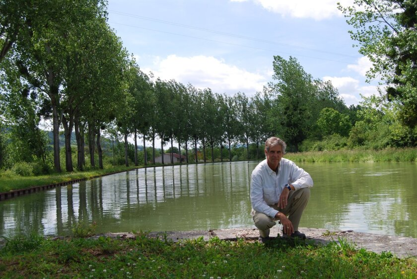 Solana Beach artist John Modesitt at Semur-en-Auxois, France, where he painted some of the works in his latest show. Courtesy photo