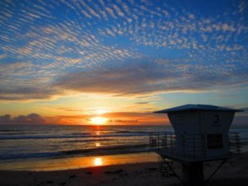 Del Mar sunsets by Mark Cullivan