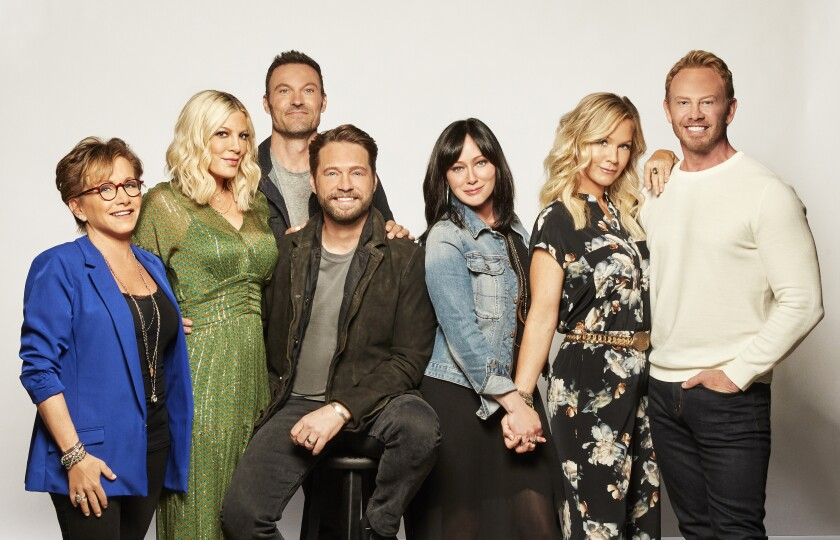 "The cast of ""BH90210"" on Fox"
