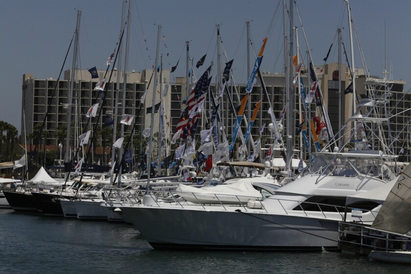 This year's San Diego International Boat Show promises nearly 140 boats for sale.(Union-Tribune file photo)