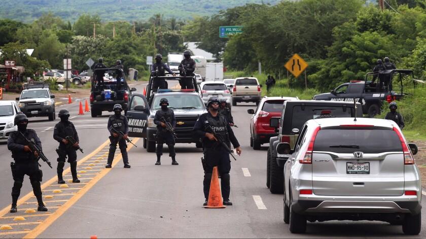 Mexico police checkpoint