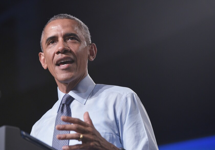 President Obama speaks at Macomb Community College in Warren, Mich. onWednesday. Afederal judge has ruled that congressional Republicans have legal standing to sue his administration over spending related to the Affordable Care Act.