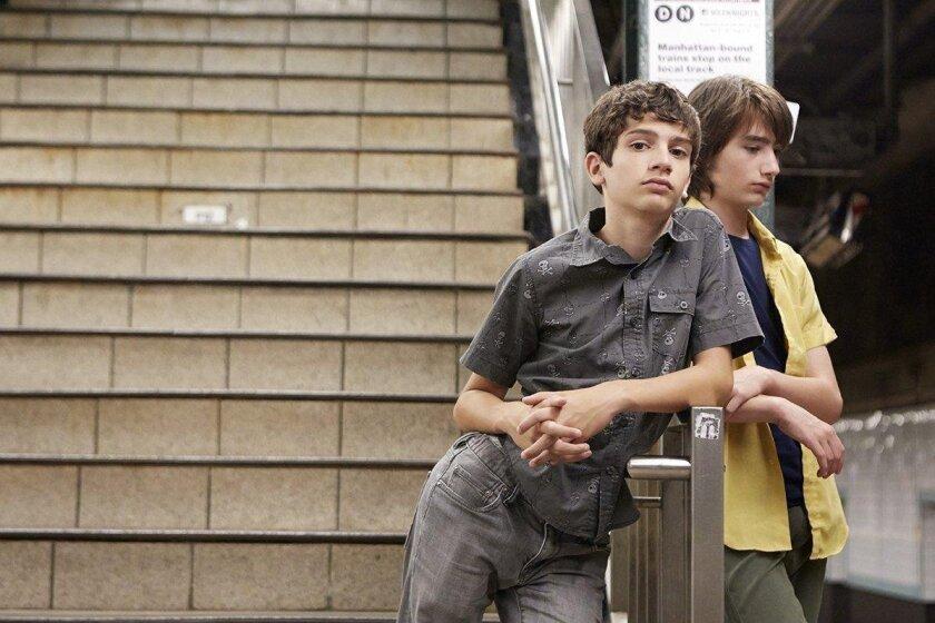 "Michael Barbieri (left) as Tony Calvelli and Theo Taplitz as Jake Jardine in ""Little Men."""