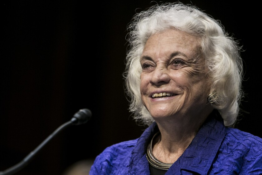 Sandra Day O'Connor revealed her diagnosis Tuesday.
