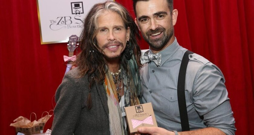 Steven Tyler with ZB Savoy at the Grammys Gifting Lounge