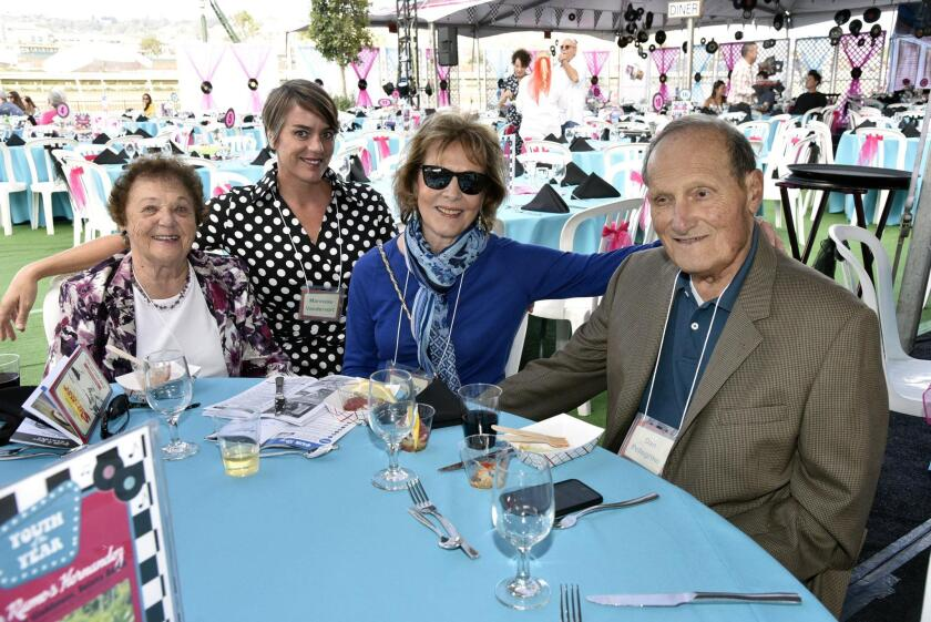 Elda Hall, Boys & Girls Club-North San Diego CEO Marineke Vandervort, Rosemary and Dan Pellegrino