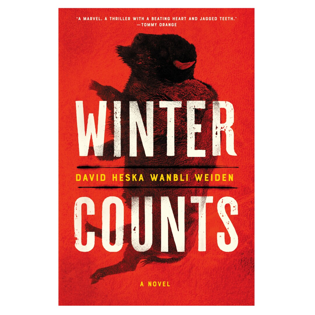 HOLIDAY GIFT GUIDE - Cover of the book Winter Counts: A novel by David Heska Wanbli Weiden.
