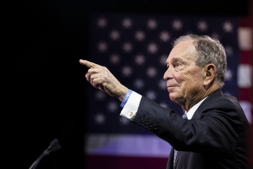 Presidential Candidate Mike Bloomberg Holds Campaign Rally In Nashville