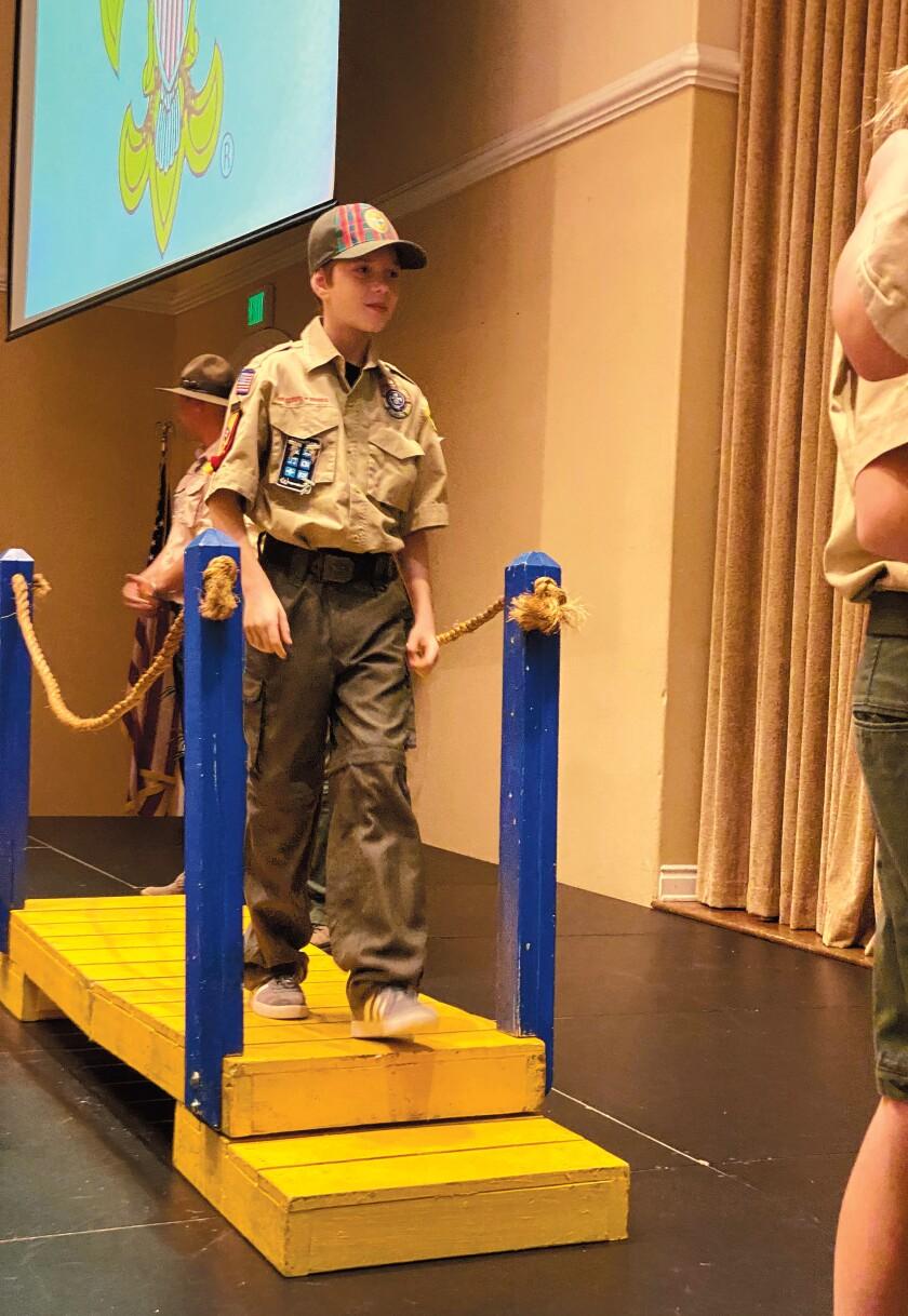 Coleton LaMarche bridges from Cub to Boy Scout.
