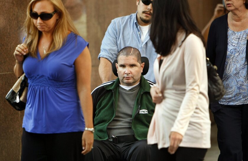 Bryan Stow in Los Angeles courtroom for jury selection
