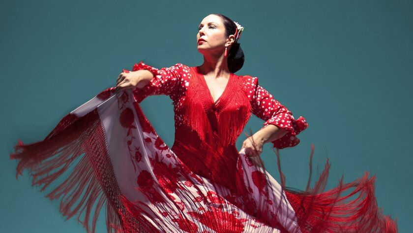 "Spain's Yolanda Arroyo will perform as part of ""Herencia Flamenca"" at the Luckman Fine Arts Complex on Saturday."