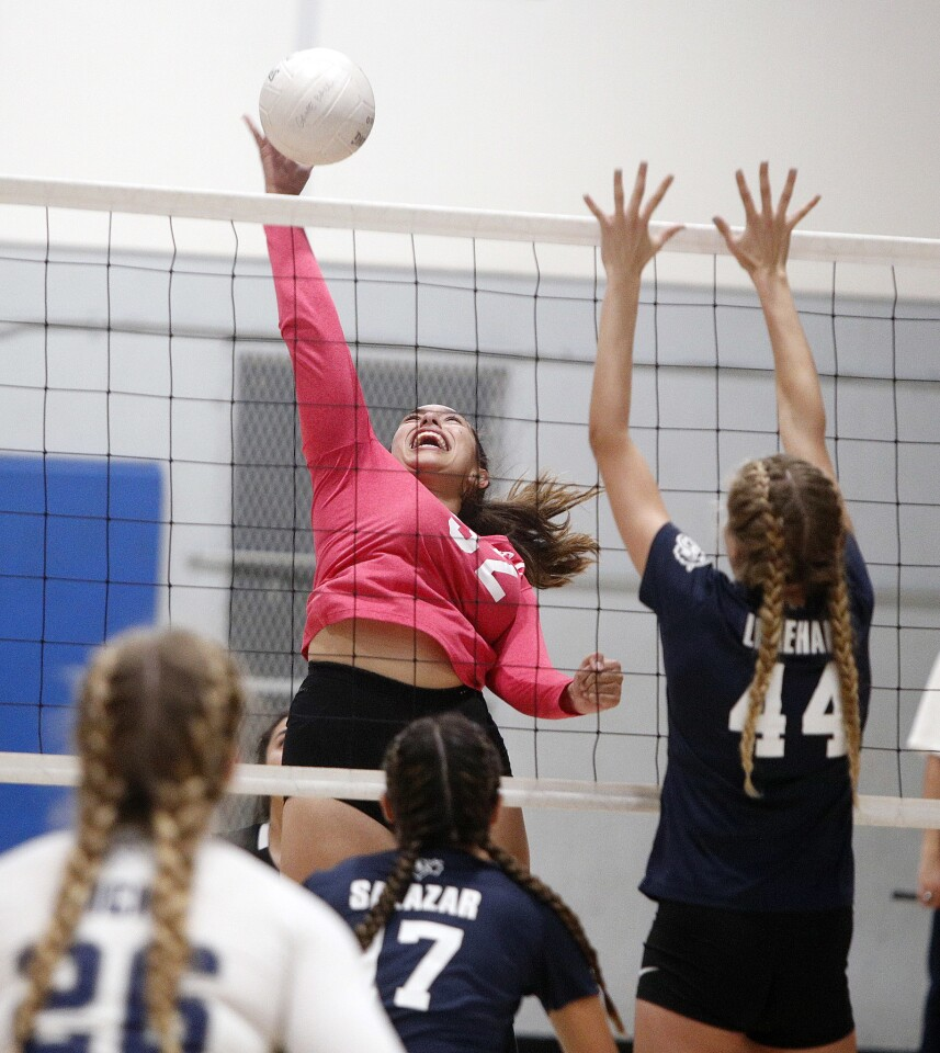 Photo Gallery: Holy Family vs. Villanova Prep in CIF Southern Section Division VIII first-round playoff girls' volleyball match