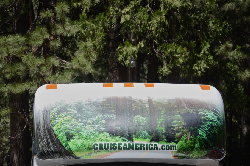 As the decorated cab of this rentedl RV in Yosemite makes clear, big trees are a key attraction in western parks. But many of Yosemite's giant sequoias are off-limits in 2016.
