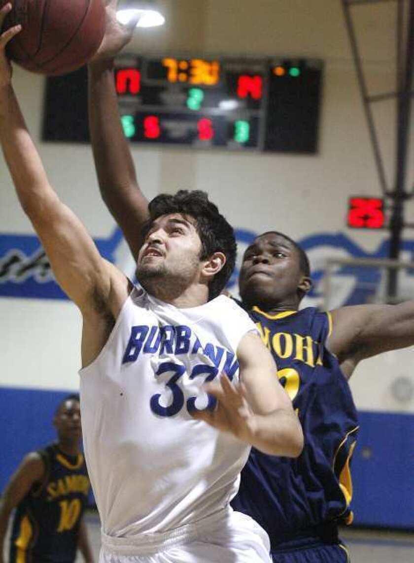 Burbank boys' basketball battles, but falls in CIF playoffs