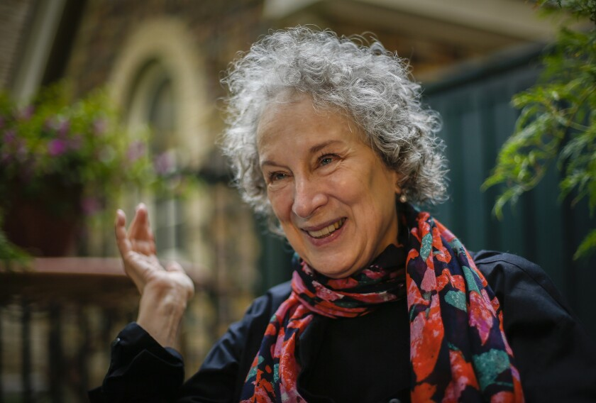 Author Margaret Atwood answered fans' questions this week during a Reddit AMA. Above, the author in 2013.