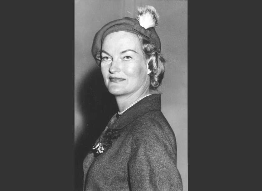FILE - Socialite and tobacco heiress Doris Duke is seen in a 1956 file photo. A community group hasn't given up its efforts to stop the demolition of a historic New Jersey mansion that heiress Doris Duke once called home. The Hillsborough Township Historic Preservation Commission approved the demol