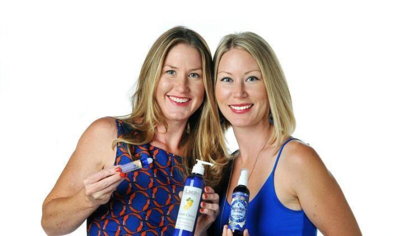 Jill and Carly Hansen, co-founders of Lavish Aromatherapy, Health and Beauty. (Rick Nocon)