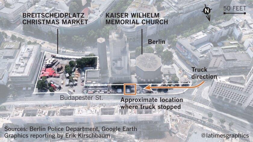 Location of truck crash in Berlin.