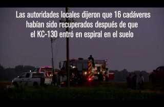 16 muertos en accidente de avión militar en Mississippi