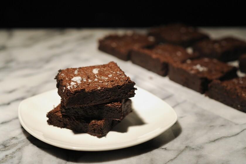 Rye chocolate brownies.