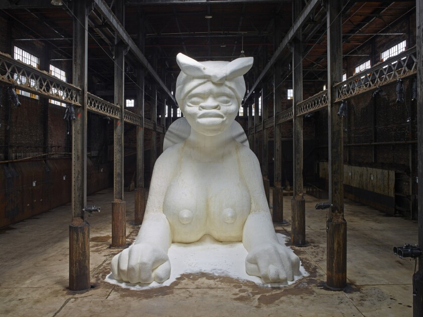 "This past spring, Kara Walker created a sensation with her massive sugar sculpture, ""A Subtlety,"" at the old Domino Sugar Factory in New York. The artist was in L.A. over the weekend for a talk organized by the Broad."