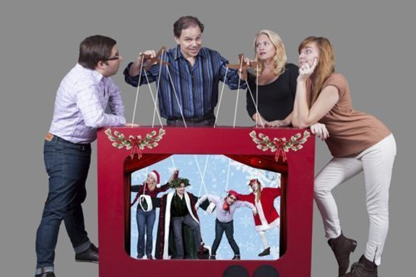 """""""The Humbug Holiday Spectacular"""" previews begin Wednesday, Dec. 11. Opening Night on Friday, Dec. 13, includes a post-show reception. The show plays through Saturday, Dec. 28 at North Coast Repertory Theatre in Solana Beach."""