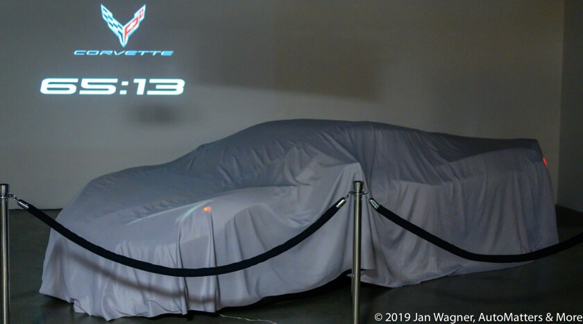 The Corvette Stingray Convertible, covered before the big reveal
