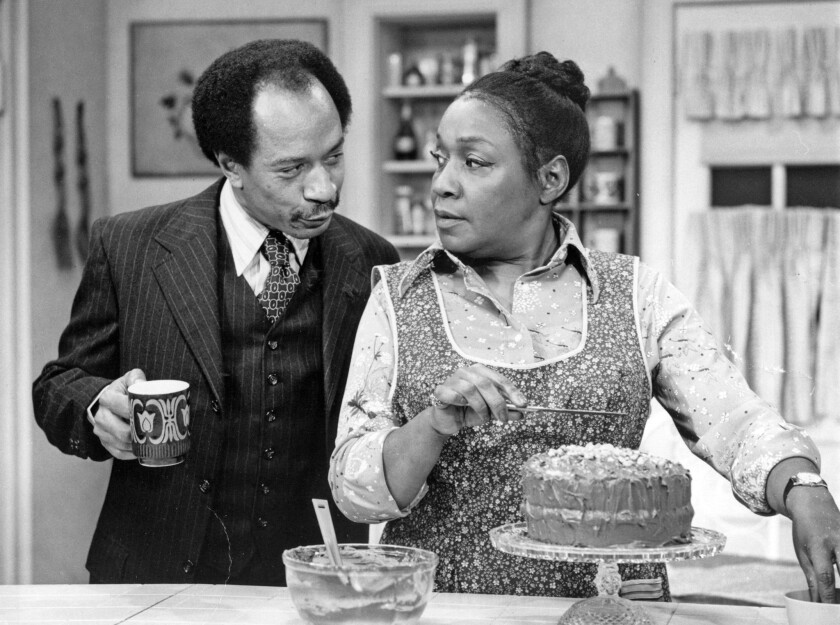 """Sherman Hemsley and Isabel Sanford in """"The Jeffersons."""""""