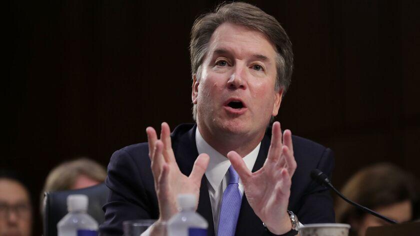 Supreme Court nominee Judge Brett Kavanaugh testifies before the Senate Judiciary Committee on Sept. 6.