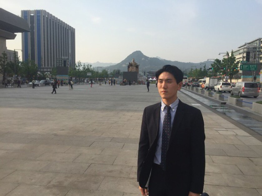 Conscientious objector Lee Min-young, 25, was ordered to spend 18 months in prison for refusing to serve in the South Korean military.