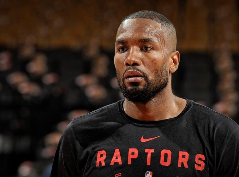 En la imagen, el jugador Serge Ibaka de los Raptors de Toronto. EFE/Archivo