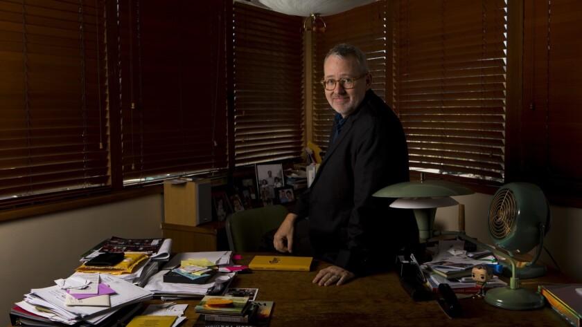 Oscar-winning documentary filmmaker Morgan Neville at his office in Los Angeles on Oct. 19.