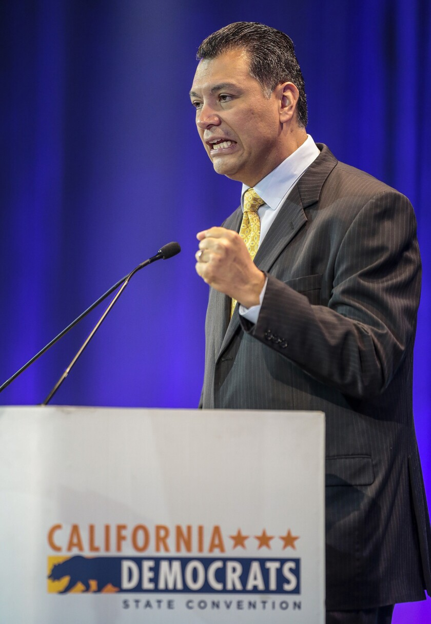 California Secretary of State Alex Padilla, seen on May 16, wants each registered voter to receive a mail-in ballot.