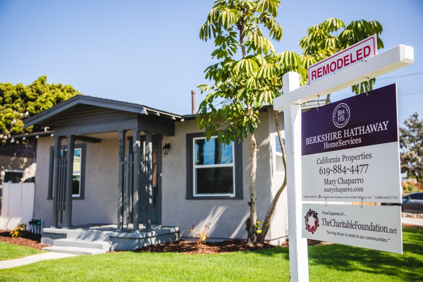 A remodeled home for sale in Normal Heights.
