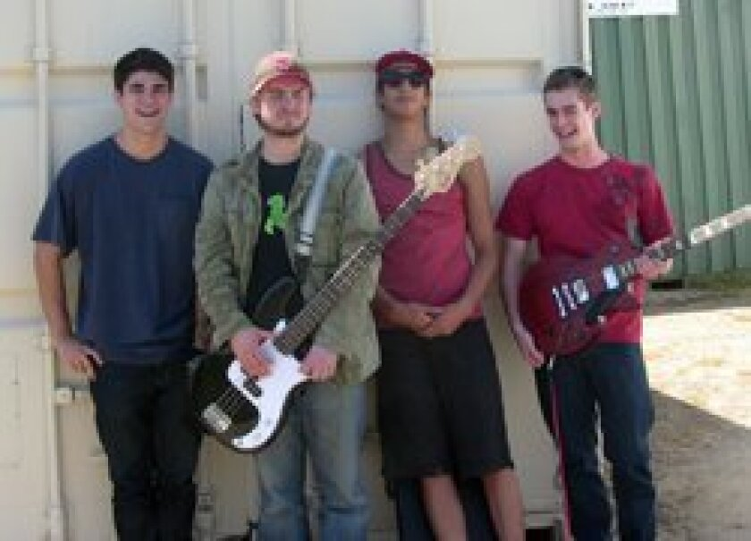 Saphead band members Joe George, Sam Chisolm, Matt Magnaghi and Mitchell Galton