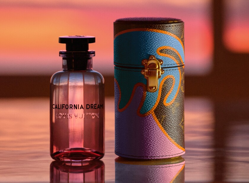 Louis Vuitton's California Dream fragrance and travel case