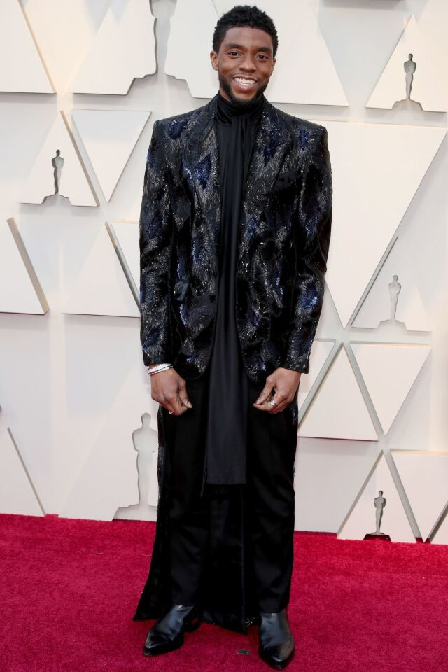 Chadwick Boseman at the 91st Annual Academy Awards, Arrivals, Los Angeles on Sunday, Feb. 24, 2019.