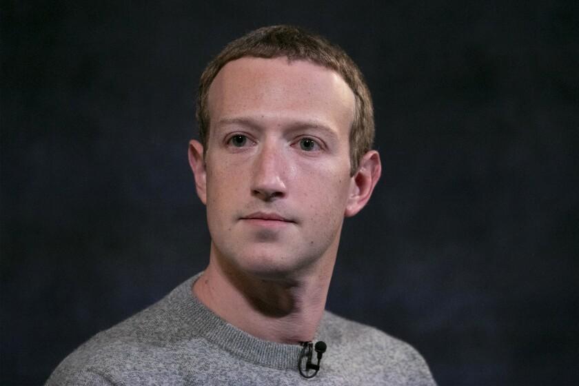 Fotografía de archivo del 25 de octubre de 2019 del director general de Facebook, Mark Zuckerberg