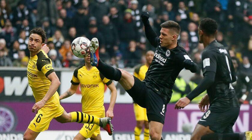 Eintracht Frankfurt vs Borussia Dortmund, Germany - 02 Feb 2019