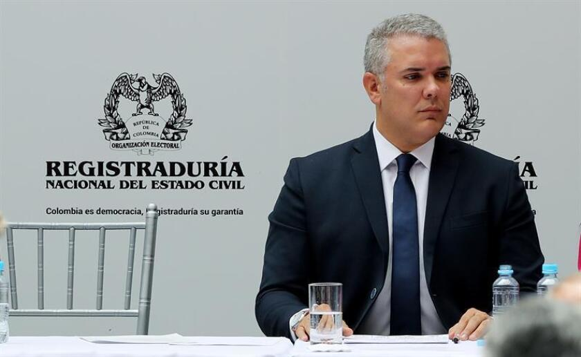 El mandatario mexicano, Enrique Peña Nieto, viajará el próximo 6 de agosto para asistir a la toma de posesión de Iván Duque (imagen) como presidente de Colombia, informó hoy la oficina presidencial en un comunicado. EFE/ARCHIVO