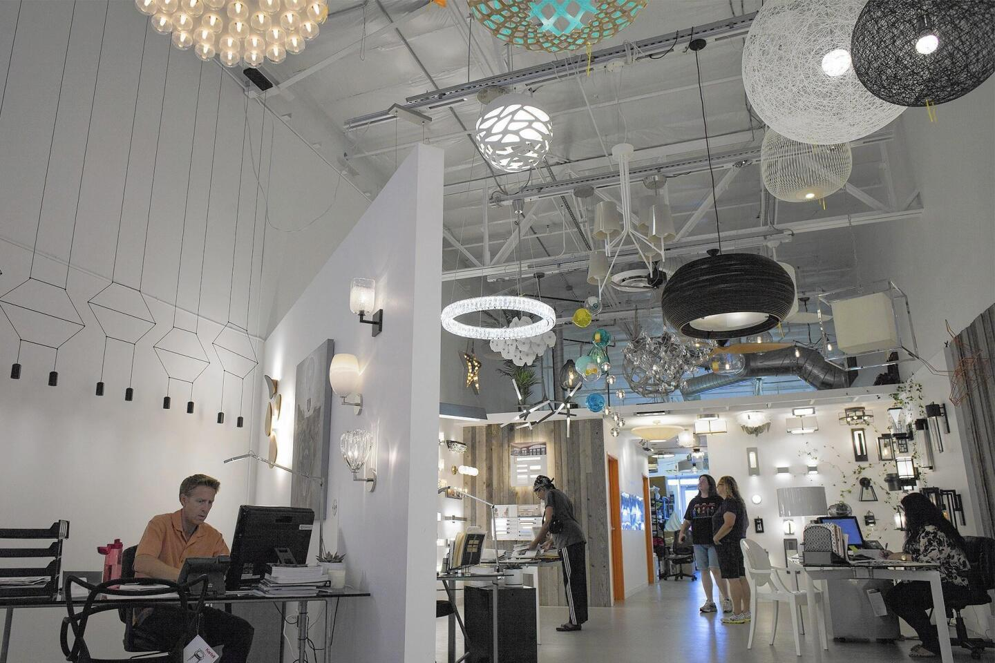Lightopia's showroom at South Coast Collection in Costa Mesa.