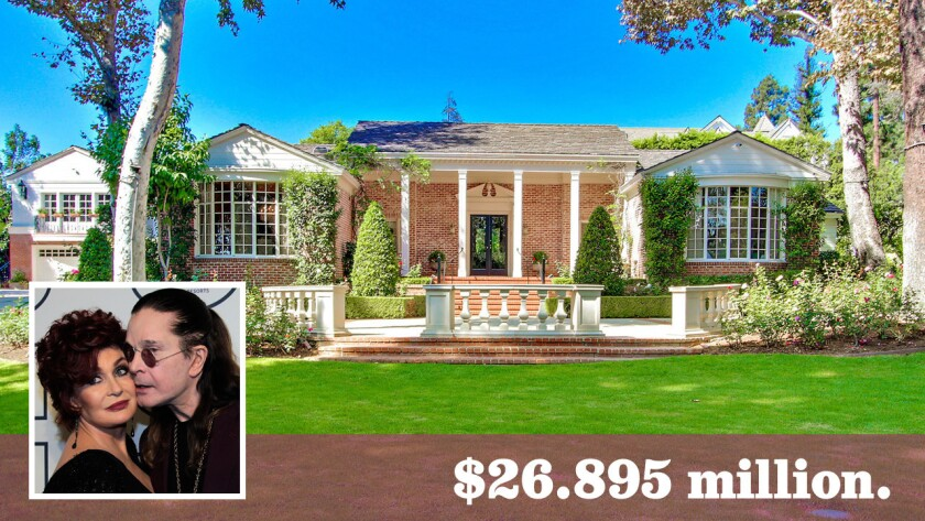 The Paul R. Williams-designed home, now for sale at $26.895 million, was rented by Ozzy and Sharon Osbourne for the last four years.