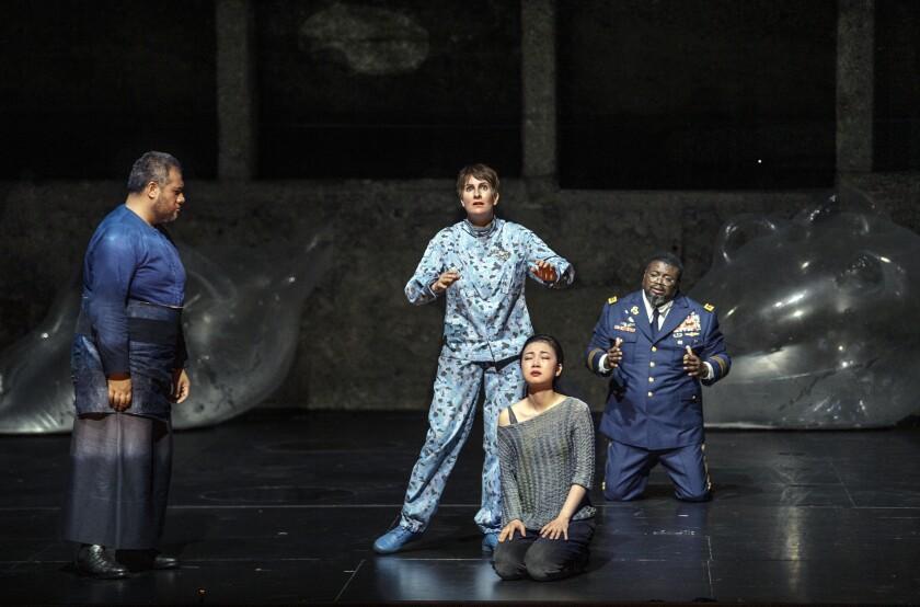 """""""Idomeneo"""" cast members, from left: Jonathan Lemalu, Paula Murrihy, Ying Fang and Russell Thomas."""
