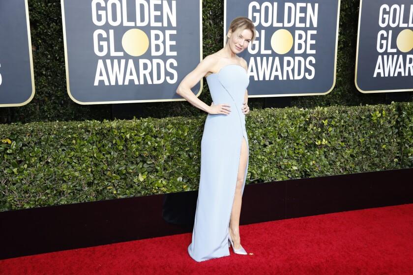 Renée Zellweger at the Golden Globes
