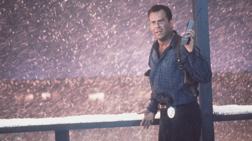 "Photo of Bruce Willis in ""Die Hard 2.""Photo/Art by:John Shannon"
