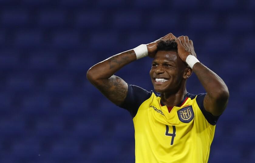 El jugador ecuatoriano Robert Arboleda