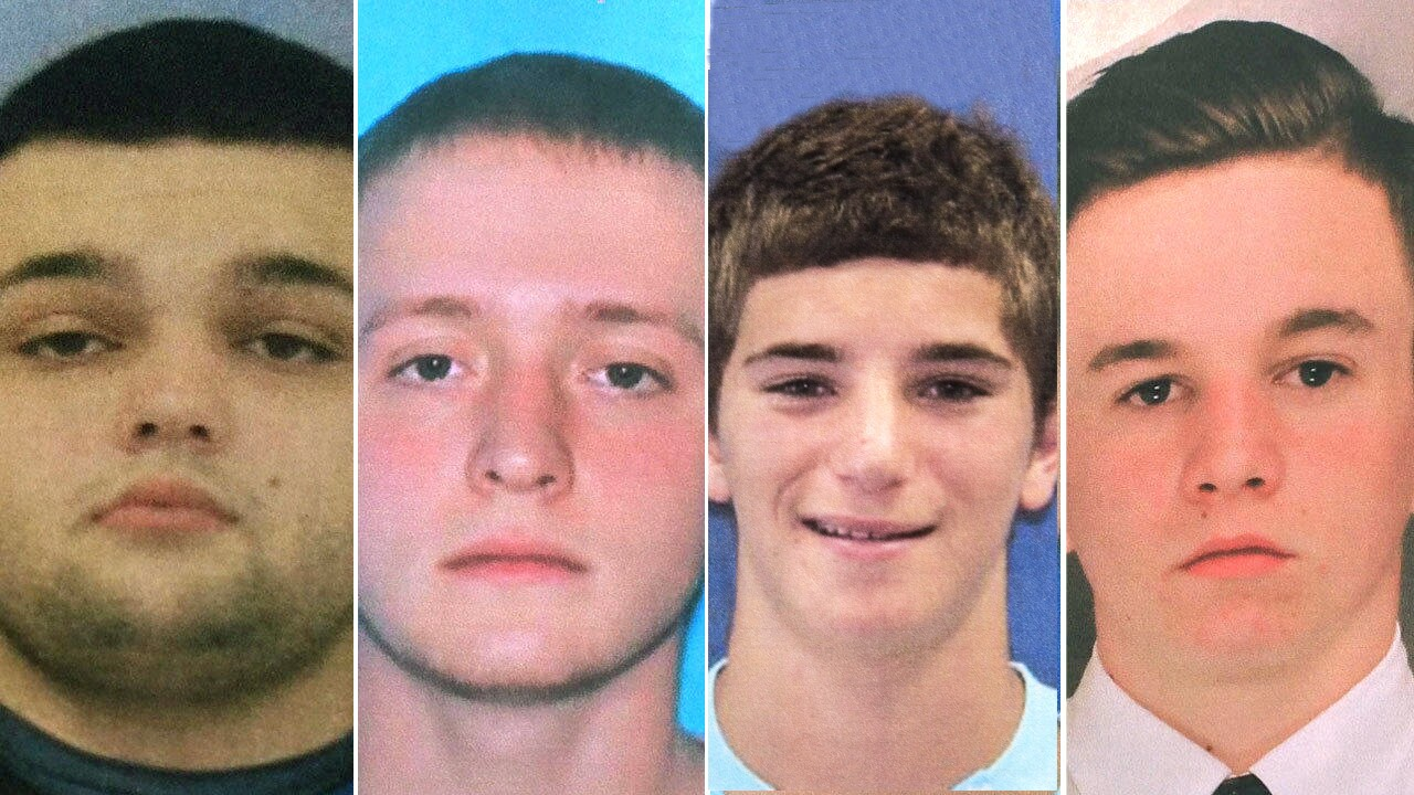 Cosmo DiNardo, 20, has confessed to the commission or participation in the murders of four missing Bucks County men. From left: 22-year-old Mark Sturgis, of Pennsburg, 21-year-old Tom Meo, of Plumstead, 18-year-old Dean Finocchiaro, of Middletown and Jimi Taro Patrick, 19, of Newtown Township.