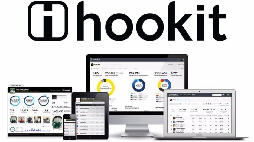 Hookit's dashboards for social media engagement.