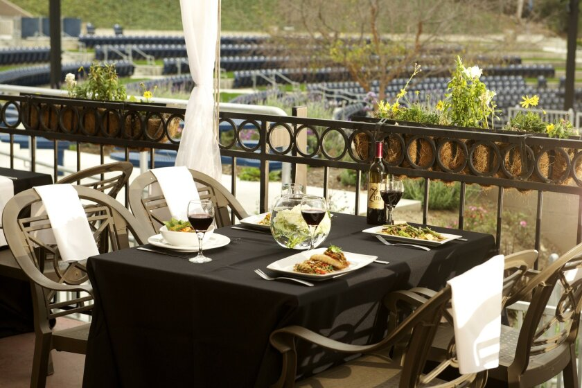 The Artisan Cafe serves pre-show prix-fixe dinners at Moonlight Amphitheatre in Vista.
